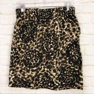 DKNY Leopard Print Stretch Waist Pocket MiniSkirt